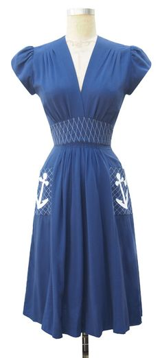 Love the style of dress minus the cap sleeve and anchors.