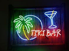 Bamboo Tiki Bar Neon Signs with Parrots and Palm Trees - 1 Year ...