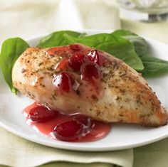 Cranberry Chicken... Add some summer flare to your usual chicken recipes with this fruity dish.