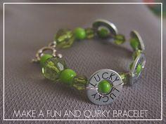 Saint Patrick's Day Bracelet from Kiki creates - great diy
