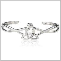 Celtic Mothers Knot Cuff Bracelet