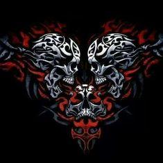 Image result for badass skull tattoos