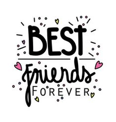 Friendship hand-lettering and calligraphy quote Vector Image Bff Images, Best Friend Images, Friends Bible Verse, Friend Quotes For Girls, Girl Quotes, Bff Drawings, Background Design Vector, Mood Instagram, Hand Lettering Quotes