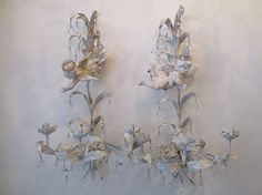 Cherub tole sconces wall hanging candle by AnitaSperoDesign