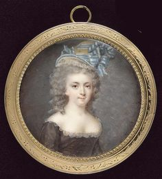 Portrait of a young lady, late 18th century by Francois Dumont (1751-1831)