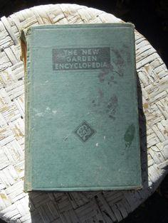 vintage GARDEN book The New Garden Encyclopedia by AlchemistPantry, $20.00
