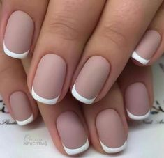 French Nail Art designs are minimal yet stylish Nail designs for short as well as long Nails. Here are the best french manicure ideas, which are gorgeous. French Manicure Gel, French Nails, French Pedicure, Colorful French Manicure, French Manicures, Nail Art Designs, Elegant Nail Designs, Pedicure Designs, Nails Design