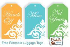 Pretty Printable - Luggage Tags