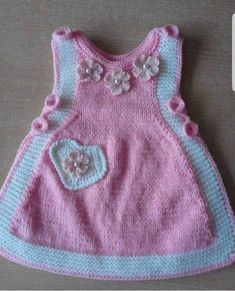 2 Colorful Flower Heart And Pearl Ornament Making Childrens Gilet. Age 2 Colorful Flower Heart And Pearl Ornament Making Childrens Gilet. Crochet Baby Sweaters, Knitted Baby Clothes, Knit Crochet, Knit Baby Dress, Crochet Baby Booties, Baby Girl Patterns, Baby Knitting Patterns, Baby Girl Dresses, How To Make Ornaments