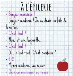 Francés hasta en la sopa...: À l'épicerie !!