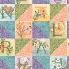 "susan winget  ""poetic letters"" fabric"