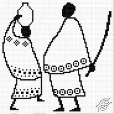 FREE PATTERNS - People - African Pair - Gvello Stitch