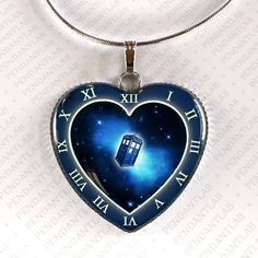 Time Travel Pendant, Necklace, Doctor Who Insp. Jewelry, Doctor Who Ins. Necklace, Steampunk, Charm, Tardis Insp. Jewelry