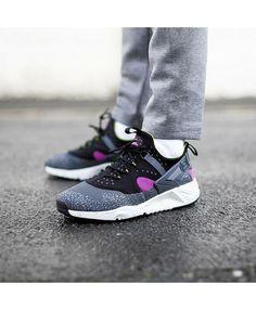 new product 2106f 3fdde Nike Air Huarache Utility Black Grey Pink Trainers Mens Trainers, Nike Air  Huarache, Shoe