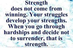 Never ever surrender ~ be stronger