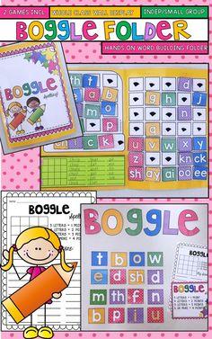 Boggle Hands on, Interactive Spelling folder
