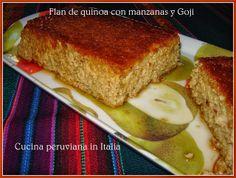 Cucina peruviana in Italia: Flan de quinoa con manzanas y Goji