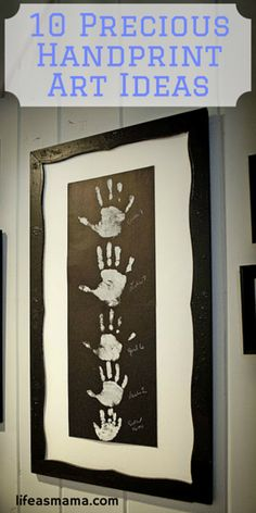 These handprint art ideas are so adorable and PERFECT for a Mother's Day Gift! Dads- get the kids crafting and make some for grandma too!