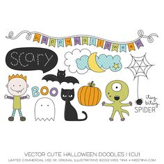 Of course it's fun to be creepy and scary on Halloween, but sometimes it's more eye catching to make something sweet. Here are 10 Halloween DIY cra. Halloween Doodle, Halloween Images, Cute Halloween, Tangle Doodle, Doodle Art, Doodle Ideas, Autumn Doodles, Toddler Drawing, Ghost Drawing