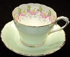 Paragon LIME DAISY MARGOT Emblazon simplyTclub Tea cup and saucer