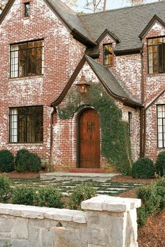 tudor style with antique bricks