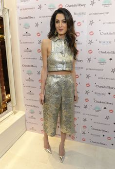 What: Vintage Lanvin culottes and crop top When: December 3, 2015 Where: At the opening of Charlotte Tilbury's Covent Garden boutique