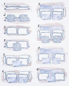 Aprenda a organizar os travesseiros da sua cama de casal Interior Design Guide, Retro Interior Design, Rainbow Room Kids, Blue Bedroom Walls, Bedroom Decorating Tips, Girl Bedroom Designs, Home Room Design, Cozy Room, Aesthetic Bedroom