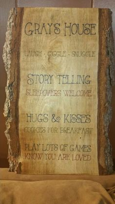 Grandma, Nana, Mimi, Grey Sign Handmade wooden signs