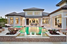 Luxury Mediterranean Homes, Mediterranean House Plans, Mediterranean Decor, Luxury Homes, Mediterranean Architecture, Luxury Apartments, Tuscan Homes, Great Room Layout, House Plans With Pictures