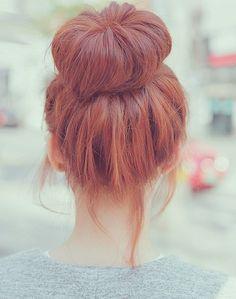 I love the big bun look and love,love,love red hair