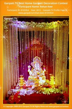 Trendy holiday pictures at home gift ideas Ideas Housewarming Decorations, Diy Diwali Decorations, Festival Decorations, Flower Decorations, Wedding Decorations, Flower Decoration For Ganpati, Ganpati Decoration Design, Diy Decoration, Ganpati Picture