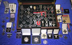 Great collection of Iron Crosses and other German WW2 awards.