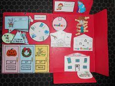 """Teacher Charlotte: The english Lap Book: des traces écrites plus """"funny""""! (+ el espanol lapbook! + lapbook néerlandais!)"""