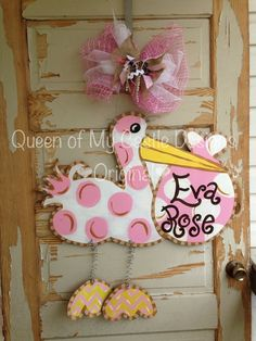 Hey, I found this really awesome Etsy listing at https://www.etsy.com/listing/188547916/stork-door-hanger-baby-announcement