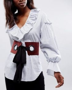 Find the best selection of ASOS Large Eyelet Corset Belt With Chiffon Tie. Shop today with free delivery and returns (Ts&Cs apply) with ASOS! Fashion Belts, Diy Fashion, Fashion Accessories, Fashion Design, Fernanda Yamamoto, Belts For Women, Clothes For Women, Ceinture Large, Asos