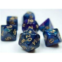 RPG Dice Set (Spectrum Purple Blue) role playing game dice