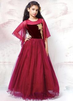 Designer Gowns for Girls. Buy online children's gowns dresses & frocks at best price for 1 to 16 years girls. Shop girls designer gowns for Wedding, Birthday, Party & Festival wear. Ethnic Fashion, Indian Fashion, Kids Fashion, Kids Ethnic Wear, Indian Ethnic Wear, Indian Dresses, Indian Outfits, Kids Party Wear, Kids Wear