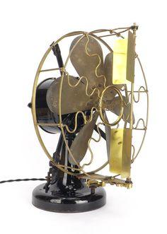 """12"""" 6 Blade Westinghouse Vane Desk Fan - antiquefanparts"""