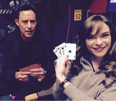 Tom Cavanagh and Danielle Panabaker