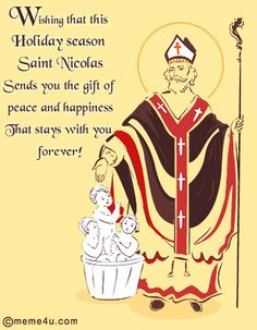 St. Nicholas Day Poems  Saint Nicholas Day Wishes Quotes and Sayings with Ca...