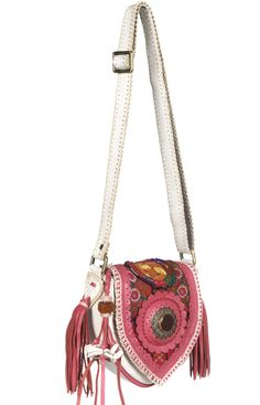 On my wishlist! World family Ibiza leather bag with pink colours!