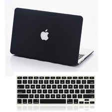 """Rubberized Matte Hard Cut-out Case Keyboard Cover for MacBook AIR 11""""/ PRO 13 15[Black,MacBook Air 11.6""""]"""