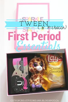 Tween (or Pretween) First Period Essentials http://cityofcreativedreams.blogspot.ca/2015/11/tween-or-pretween-first-period.html