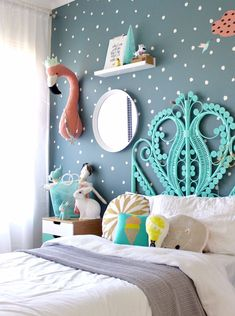 Tween Bedroom Makeover - From Sea Grey To Light And Bright on Best Room Ideas 6035 Blue Girls Rooms, Girls Bedroom Colors, Big Girl Rooms, Bedroom Yellow, Blue Bedrooms, Bedroom Girls, Kid Bedrooms, Kids Bedroom Designs, Childrens Bedroom Ideas
