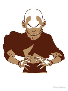 Minimalist Aang from Avatar the Last Airbender by Himehimine