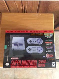 New 2017 Super NES Nintendo SNES Classic Mini Edition Video Game Console System | eBay