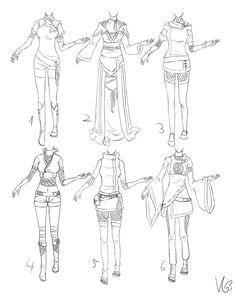 Inspiration: Clothing ----Manga Art Drawing Anime Girl Woman Ninja--- [[[by Kohane-chan via deviantART]]]