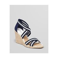 Nautical style looks utterly shipshape in these Lauren Ralph Lauren wedges. They're the epitome of relaxed American style.