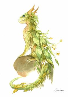 watercolor dragon 2 by sandara.deviantart.com on @DeviantArt