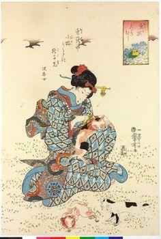 歌川国芳: Kogane mushi こがねむし (Gold Beetle) / Mushi erami 虫選 (Selected Insects) - 大英博物館
